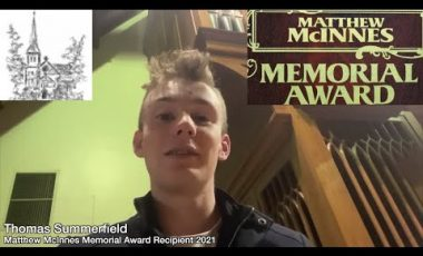 Matthew McInnes Award 2021 Recipient – Thomas Summerfield