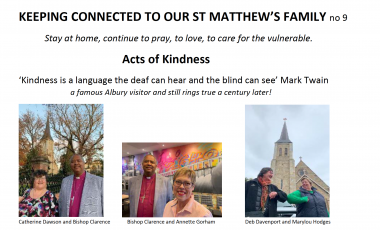 St Matthew's Keeping Connected Newsletter No. 9