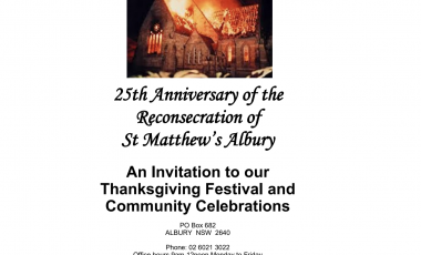 An Invitation to our Thanksgiving Festival and Community Celebrations