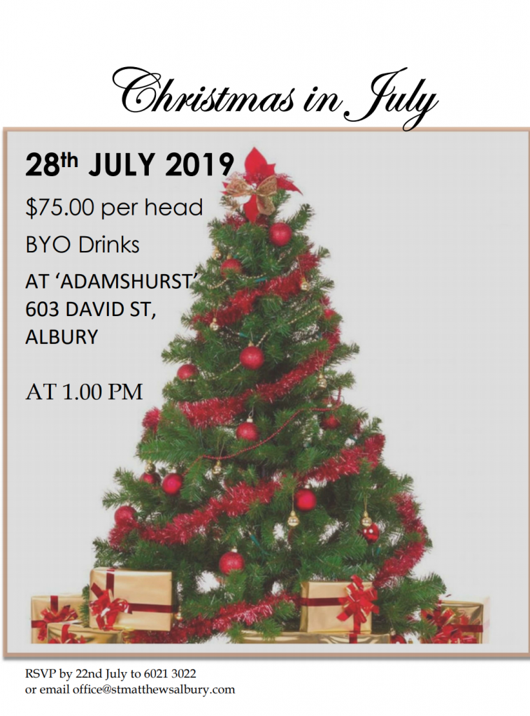Christmas In July 2019 Images.Christmas In July 2019 St Matthew S Albury