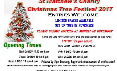 St Matthew's Charity Christmas Tree Festival 2017