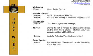 Holy Week Services 2019